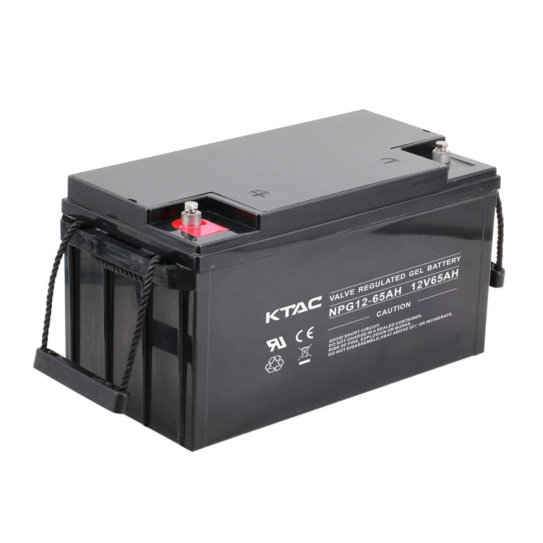 12V 65AH rechargeable maintenance free valve regulate lead acid battery